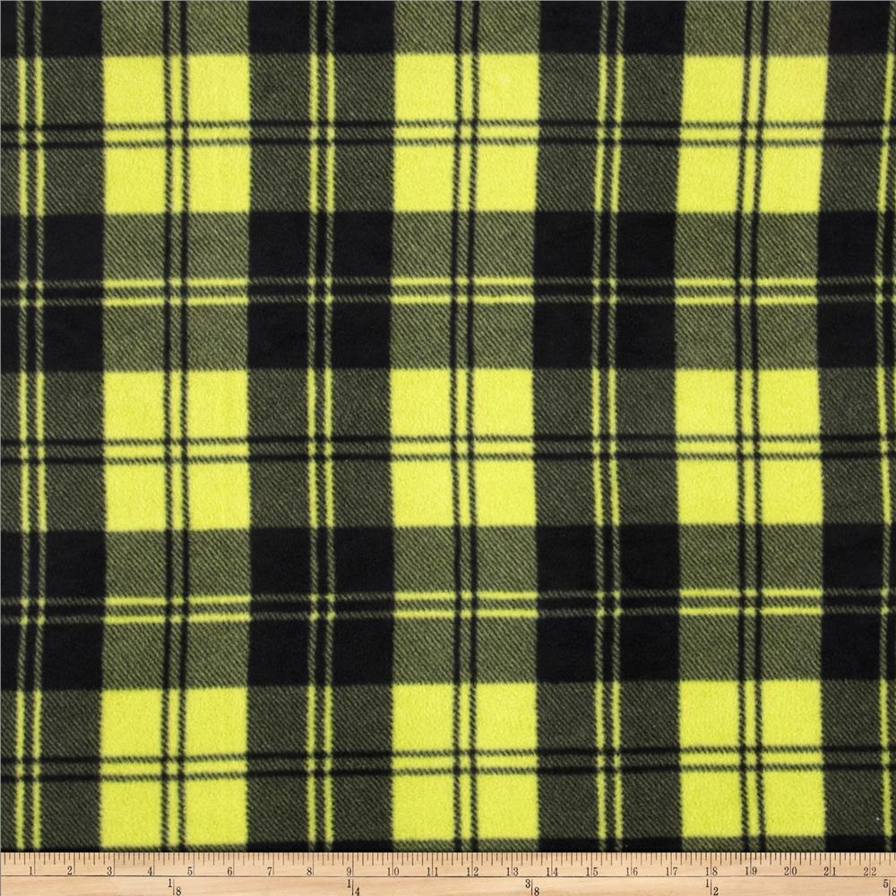 Winterfleece Double Take Plaid Chartruese
