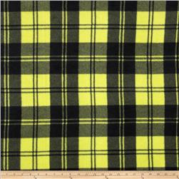 Winterfleece Double Take Plaid Chartruese Fabric