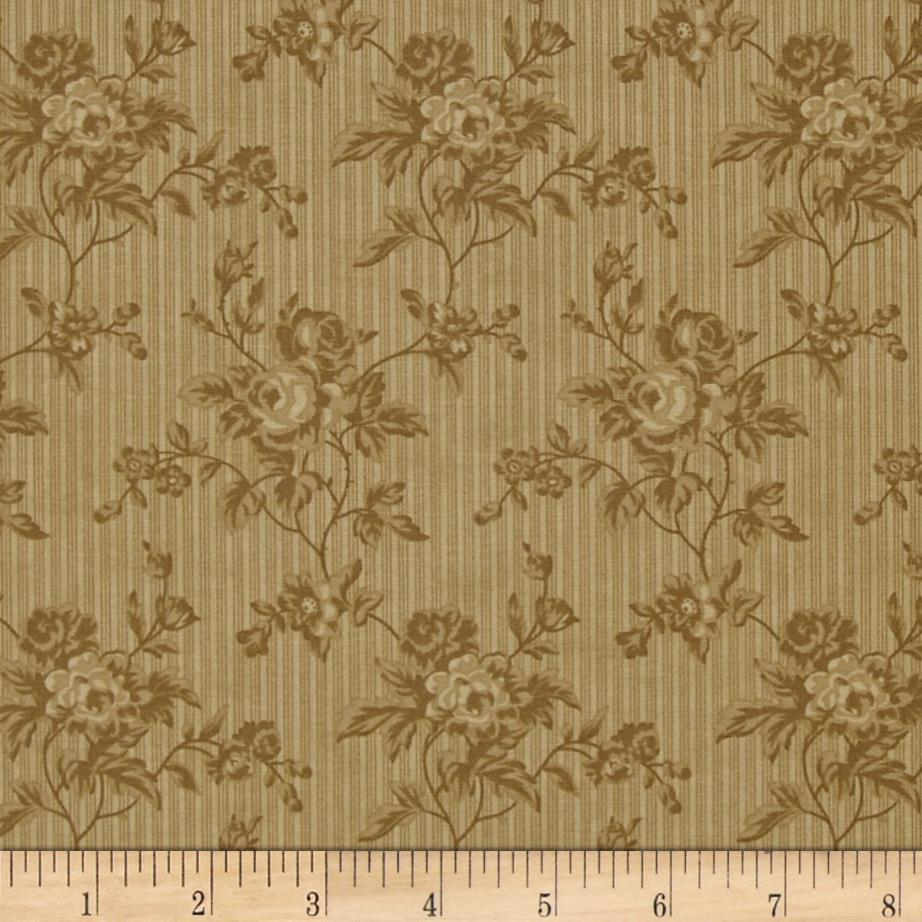 Moda Midwinter Reds Chintz Floral Tan