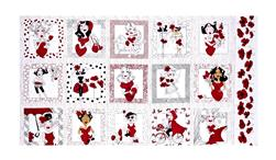 "Loralie Designs Lady In Red 24"" Panel Red"