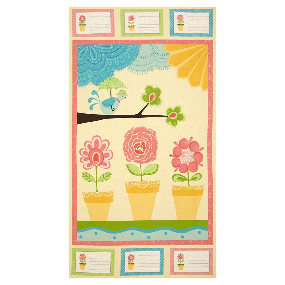 Moda Chance of Flowers 25.5 In. Panel Sun