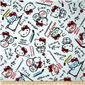 Hello Kitty Math Graph Paper White/Blue