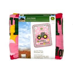 John Deere No Sew Fleece Kit Tractors Are For Girls Pink