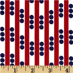 Betty Dear Stripe N Dots Lipstick Fabric