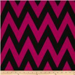 Fashionista Jersey Knit Large Chevron Magenta/Black
