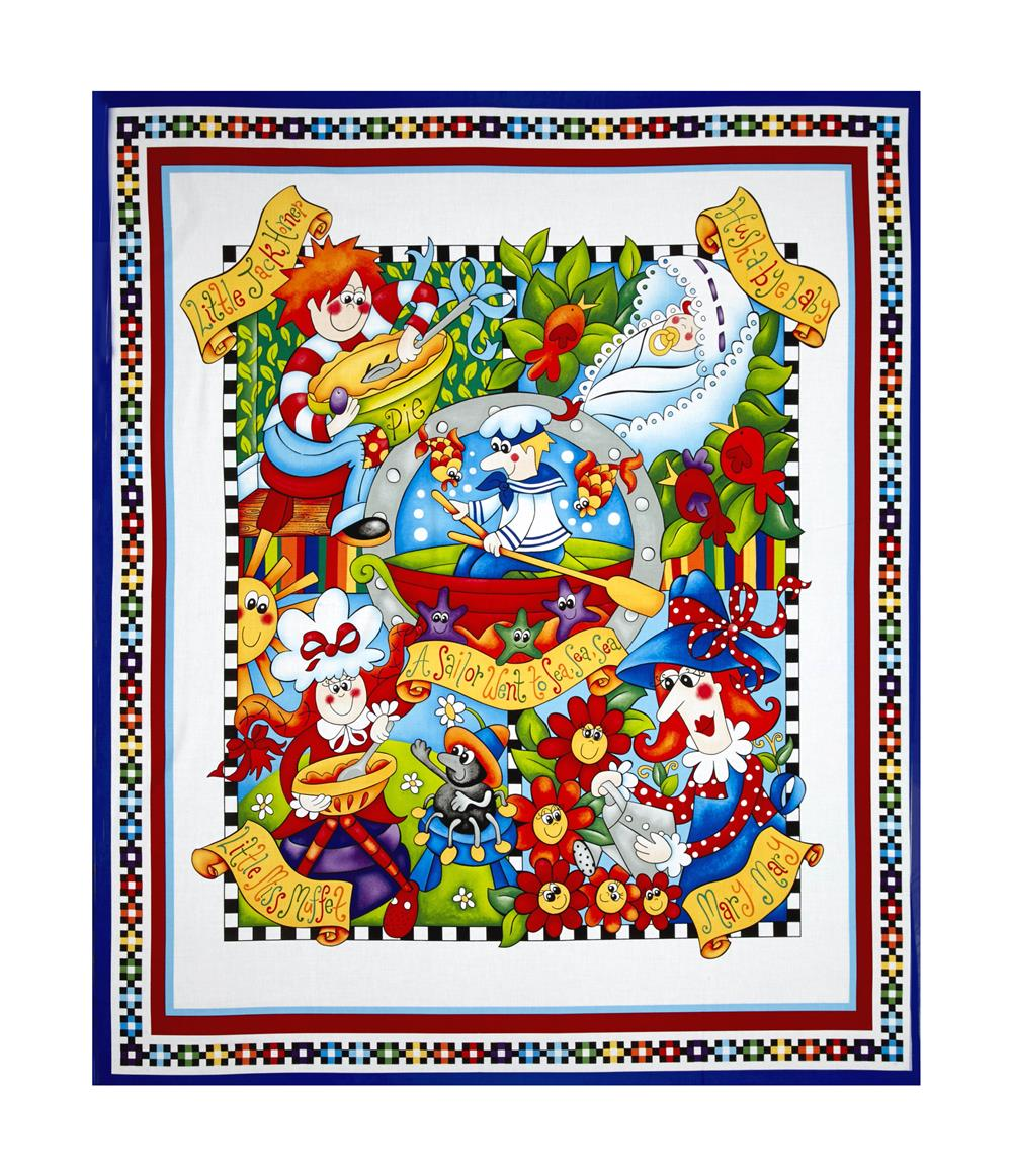 Bedtime Rhymes 35'' Character Panel Multi Fabric