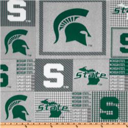 Collegiate Fleece Michigan State Plaid Boxes Green/Gray
