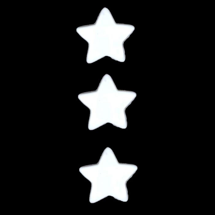 Novelty Button 5/8'' Wishing Star White