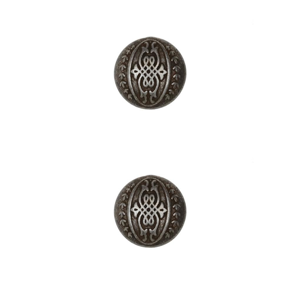 Dill Buttons 11/16'' Full Metal Button Antique Tin