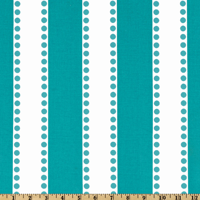 Premier Prints Lulu Stripe True Turquoise Fabric