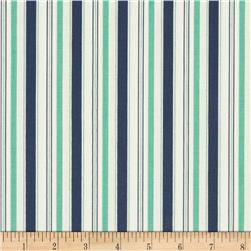 Riley Blake Cozy Christmas Stripe Navy