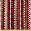 Robert Kaufman Holly Jolly Christmas Candy Canes Evergreen