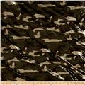 Stretch Sequin Knit Camouflage Green/Multi