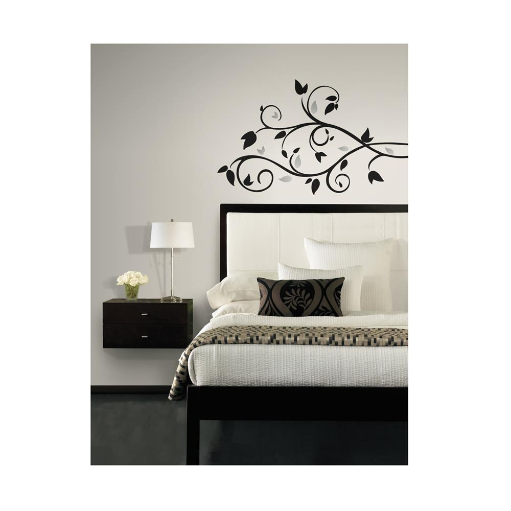 Foil Leaves with Silver Sheet Wall Decal