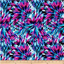 Feathers Printed Athletic Knit Aqua/Pink