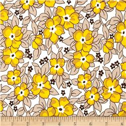 Denyse Schmidt Hadley Old Fashioned Floral Sunflower Fabric