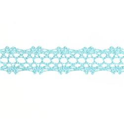 "5/8"" Crochet Lace Trim Light Blue"