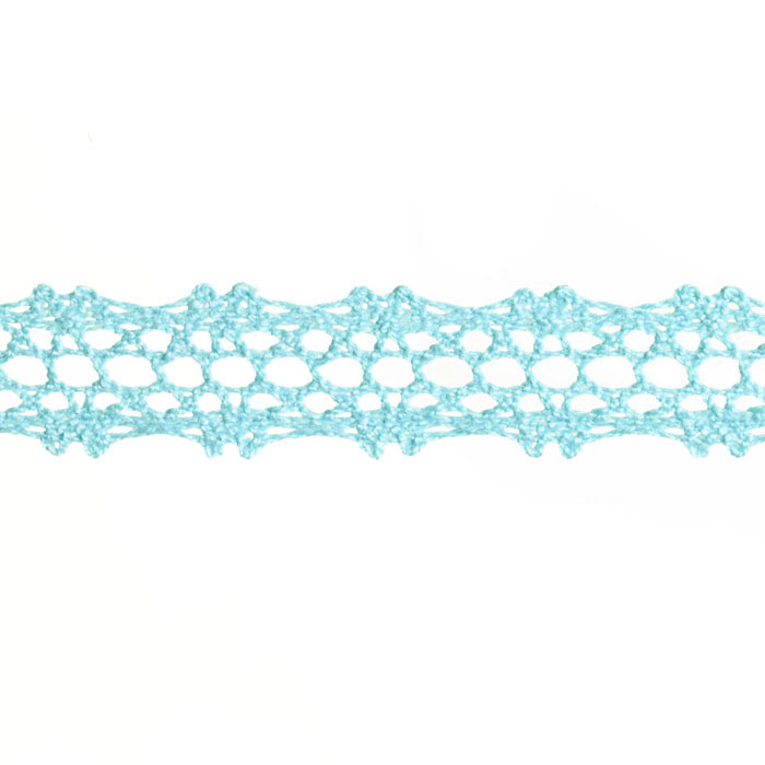 5/8'' Crochet Lace Trim Light Blue
