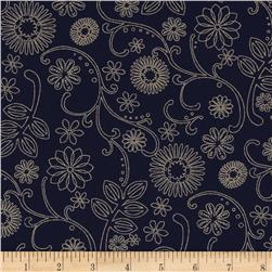 "110"" Wide Quilt Back Signature Black/Tan"
