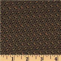 Asuka Metallic Geo Tile Black/Gold
