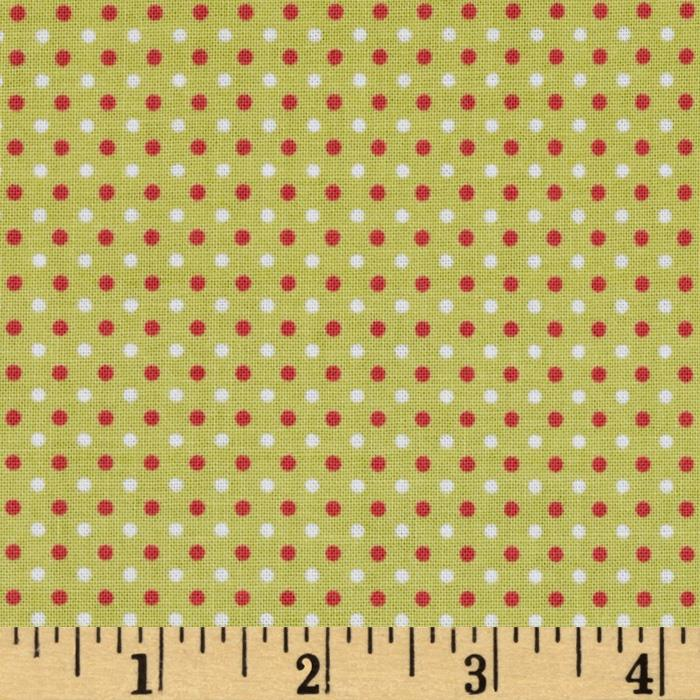 Riley Blake Enchant Dots Green