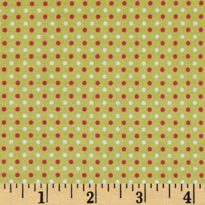 Riley Blake Enchant Dots Green Fabric