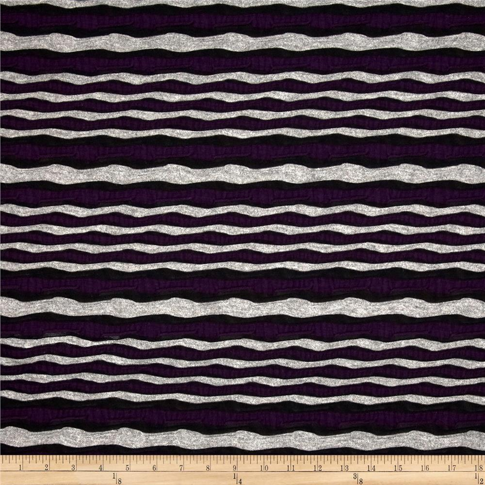 Utopia Knit Stripes Purple/Black