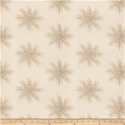 Fabricut  Embroidered Metallic Sunburst Latte