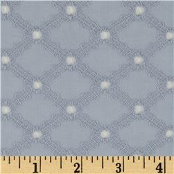 Michael Miller Lattice Cotton Eyelet Fog