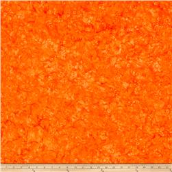 Bali Batiks Handpaints Flower Swirl Orange