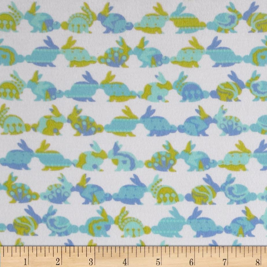 Michael Miller Cynthia Rowley Oh Baby Flannel Rabbit