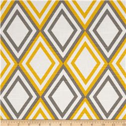 Premier Prints Annie Slub Yellow/Kelp Fabric