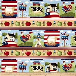 Little Bit of Country Patriotic Repeating Stripe Multi