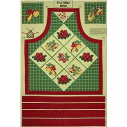 Fruit Salad Apron Panel Red/Green
