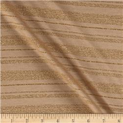 Tissue Metallic Stripe Jersey Knit Gold