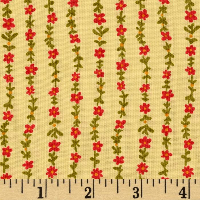 Ditsy Floral Stripe Yellow