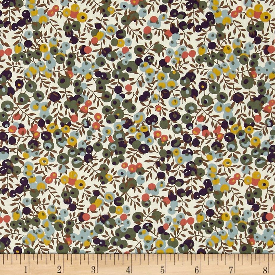 Liberty of London Classic Tana Lawn Wiltshire Bluberry Garden Green/Yellow