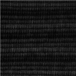 Stretch Tissue Hatchi Knit Sheer Stripe Black Fabric