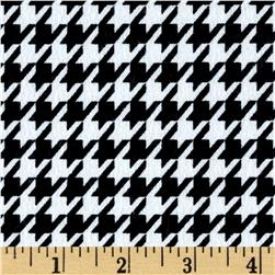 Flannel Houndstooth Black