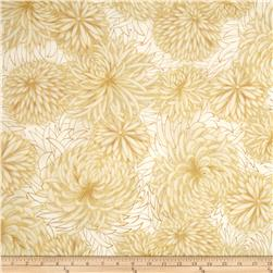 Kaufman Imperial Collection Metallic Flower Spray Ivory