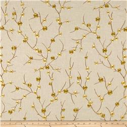 Richloom Platinum Blossom Linen Blend Embroidered Ginger