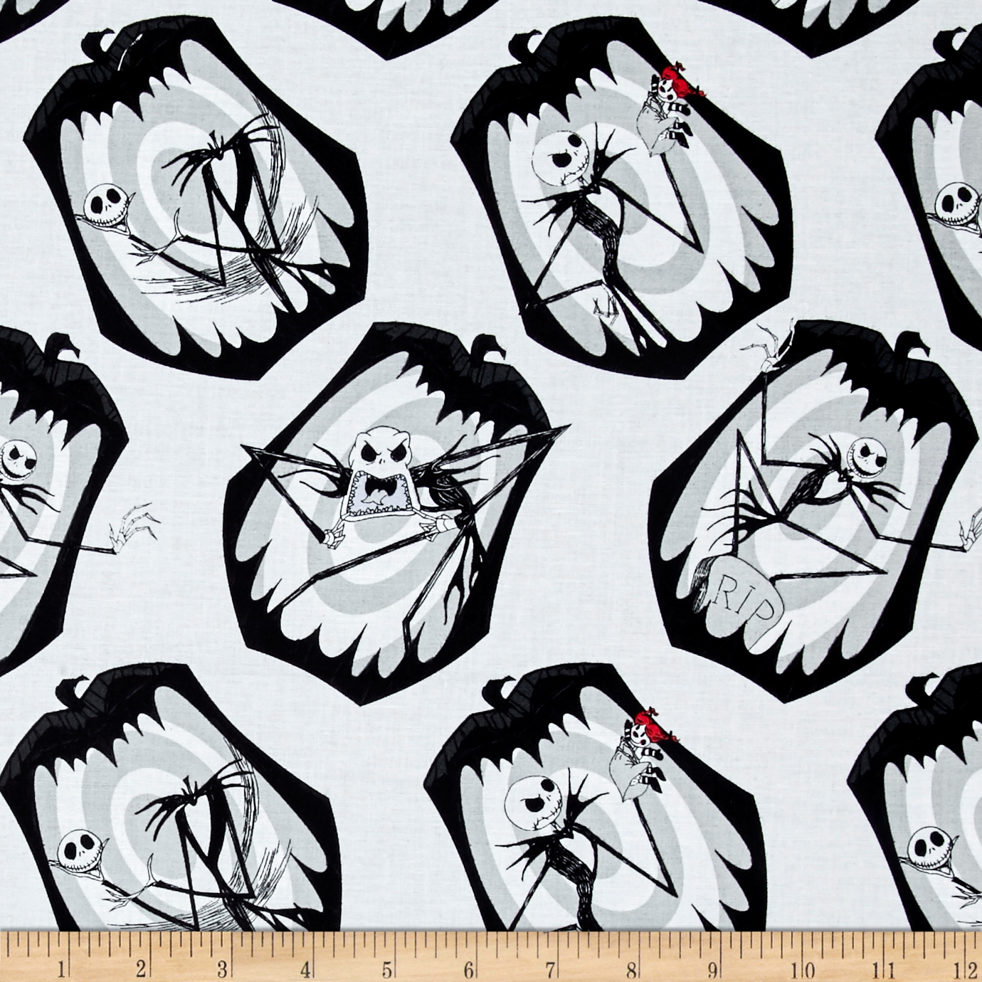 The Nightmare Before Christmas The Pumpkin King Stone Fabric by Eugene in USA
