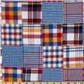 Madras Plaid Patchwork Shirting Blue/Red