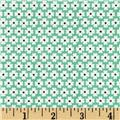 Storybook Vacation Daisy Dots Aqua