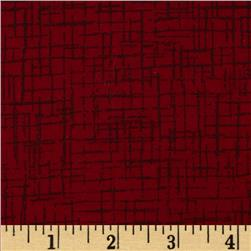 110 In. Wide Quilt Back Betula Flannel Dark Red