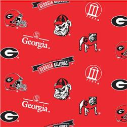 Collegiate Fleece University of Georgia Tossed