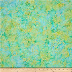 Batavian Batiks Garden Party Green/Yellow