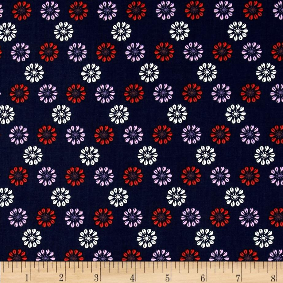 Cotton & Steel Mustang Daisies Navy