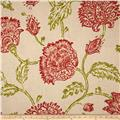 Duralee Home Agathe Floral Natural/Coral Red