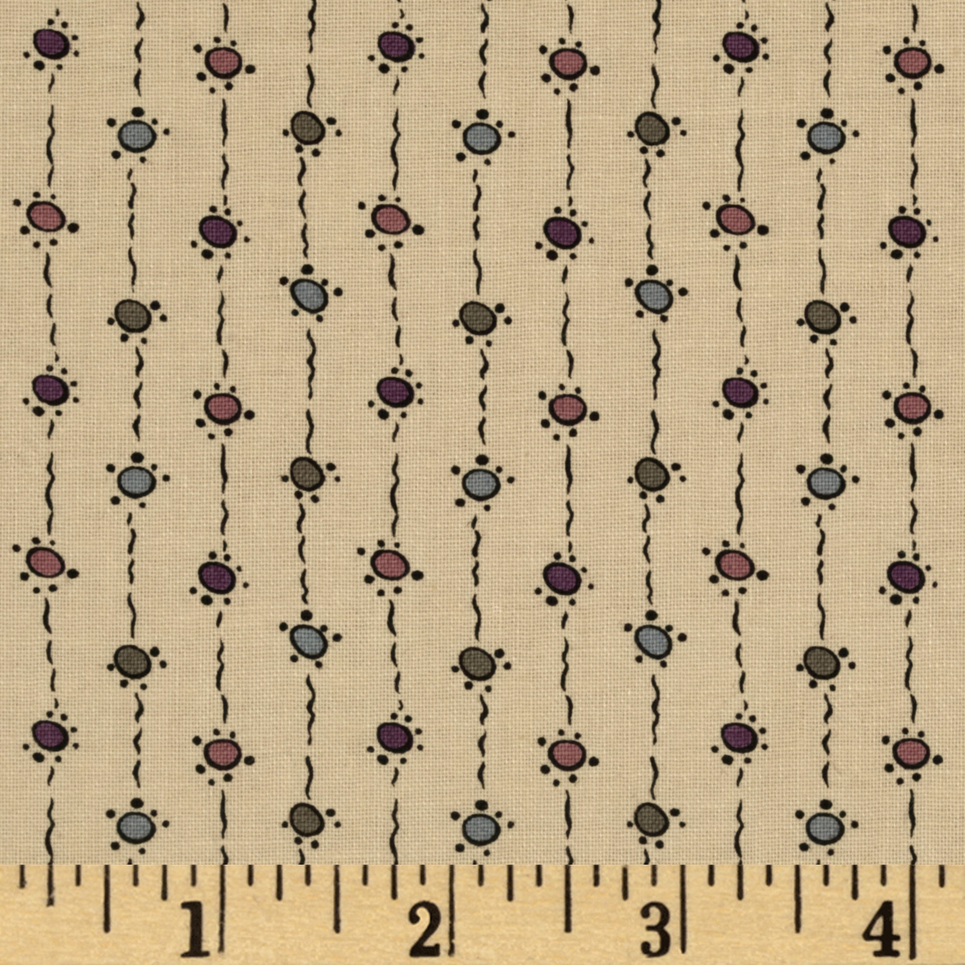 Downton Abbey Dowager Countess String Dots Dark Tan